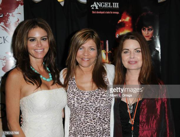 Actress Betsy Russell Donna Wilkes and Mitzi Kapture participates in The 2011 Fall Hollywood Show held at Burbank Airport Marriott Hotel Convention...