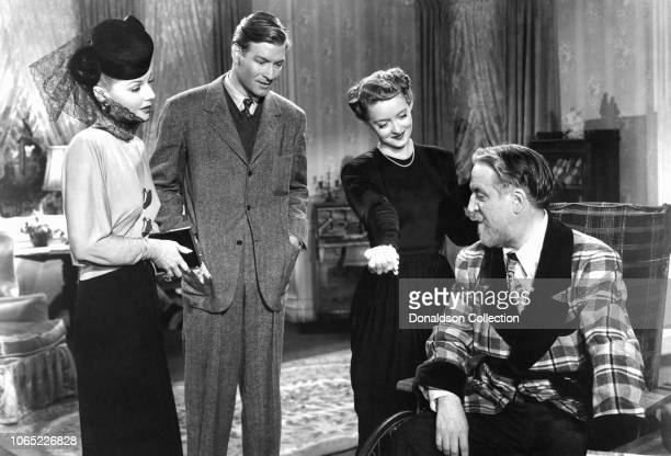 Actress Bette Davis Ann Sheridan Reginald Gardiner Monty Woolley in a scene from the movie The Man Who Came to Dinner