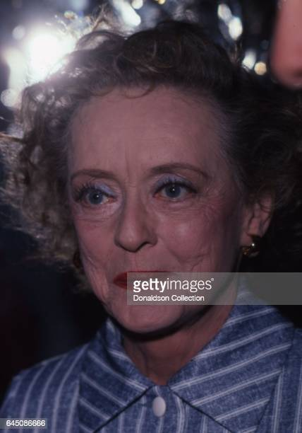 Actress Bette Davis attends an event in December 1979 in Los Angeles California