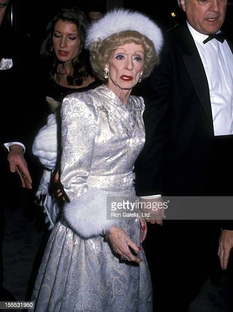 Actress Bette Davis attends the Sixth Annual American Cinema Awards on January 91989 at Beverly Hilton Hotel in Beverly Hills California