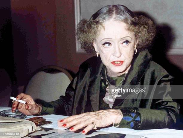 Actress Bette Davis circa 1985