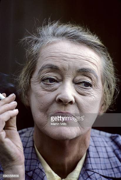 Actress Bette Davis on the set of the TV show 'It Takes a Thief' filming the third season episode 'Touch of Magic' in 1969 that aired on January 20...