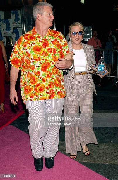 Actress Bette Midler and her husband Martin von Hasselberg arrive at the Roseland Ballroom for the Broadway musical Hairspray opening night after...