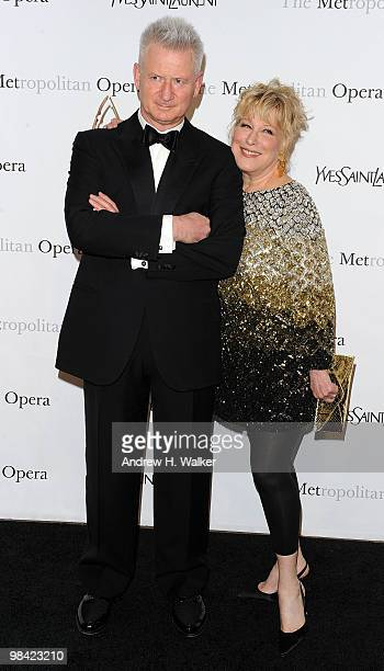 Actress Bette Midler and husband Martin von Haselberg attend the Metropolitan Opera gala permiere of Armida at The Metropolitan Opera House on April...