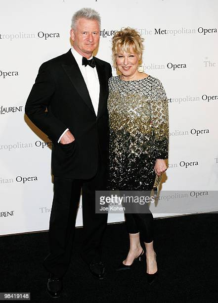 Actress Bette Midler and husband Martin von Haselberg attends the Metropolitan Opera gala permiere of Armida at The Metropolitan Opera House on April...