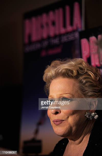 Actress Bette Midler attends the after party for the Broadway opening night of Priscilla Queen of the Desert The Musical at Pier 60 on March 20 2011...