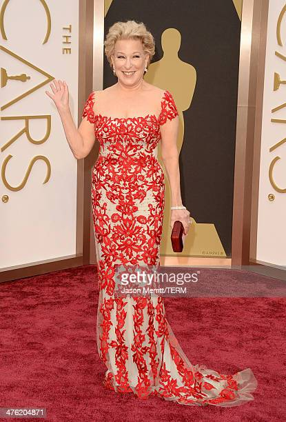 Actress Bette Midler attends the Oscars held at Hollywood Highland Center on March 2 2014 in Hollywood California