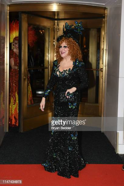 Actress Bette Midler leaves the Pierre Hotel on May 06 2019 in New York City