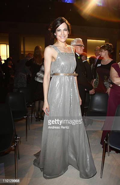 Actress Bettina Zimmermann attends the 'Deutscher Hoerfilmpreis 2011' at the Atrium Deutsche Bank on March 15 2011 in Berlin Germany