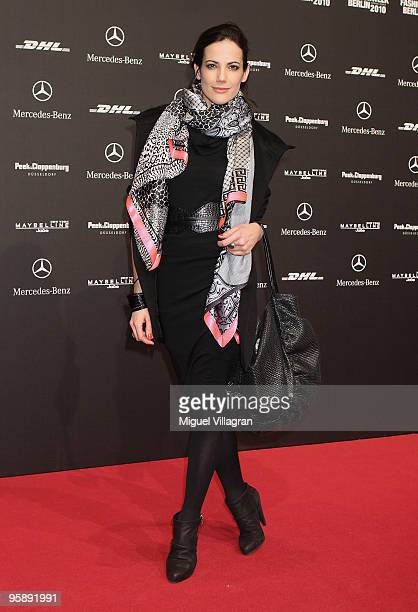 Actress Bettina Zimmermann attends the Sam Frenzel Fashion Show during the MercedesBenz Fashion Week Berlin Autumn/Winter 2010 at the Bebelplatz on...