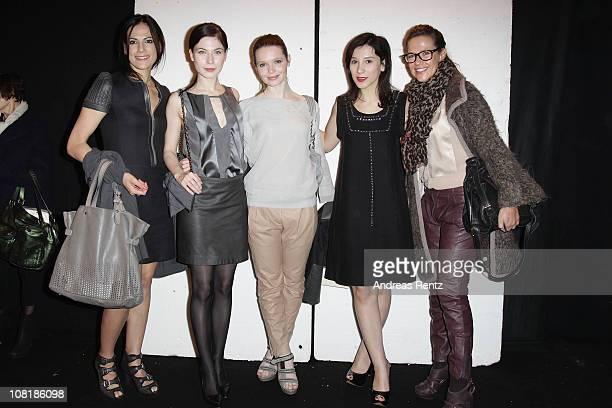 Actress Bettina Zimmermann, Nora von Waldstaetten, Karoline Herfurth, Sibel Kekilli and Alexandra Neldel attend the Schumacher Show during the...