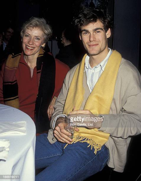 Actress Betty Buckley and actor Grayson McCouch attending the premiere of The Muppet Christmas Carol on December 6 1992 at the Palladium in New York...