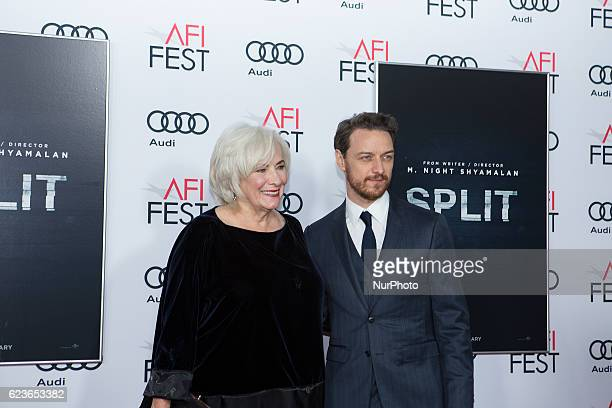 Actress Betty Buckley with actor James McAvoy attend the premier of Split at AFI Fest 2016 presented by AUDI at TCL Chinese Theatre in Hollywood, CA...