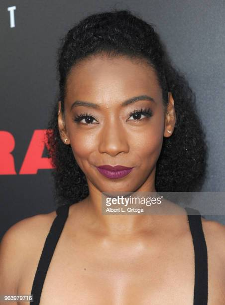 Actress Betty Gabriel arrives for the premiere of BH Tilt's 'Upgrade' held at the Egyptian Theatre on May 30 2018 in Hollywood California