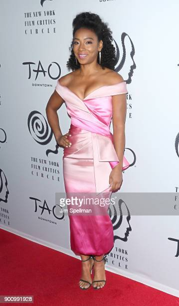 Actress Betty Gabriel attends the 2017 New York Film Critics Awards at TAO Downtown on January 3, 2018 in New York City.