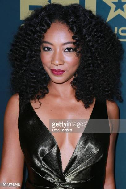 Actress Betty Gabriel attends the 2018 American Black Film Festival Honors Awards at The Beverly Hilton Hotel on February 25 2018 in Beverly Hills...
