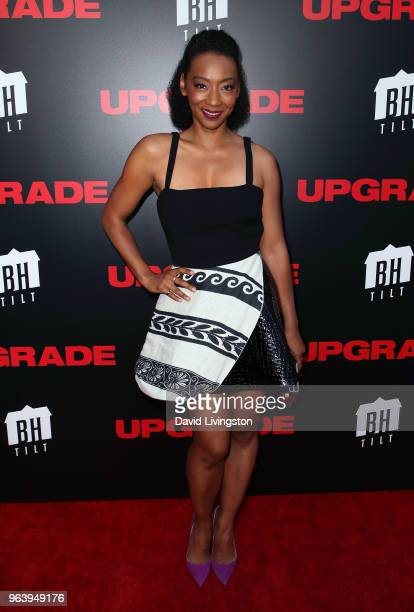 Actress Betty Gabriel attends the premiere of BH Tilt's 'Upgrade' at the Egyptian Theatre on May 30 2018 in Hollywood California