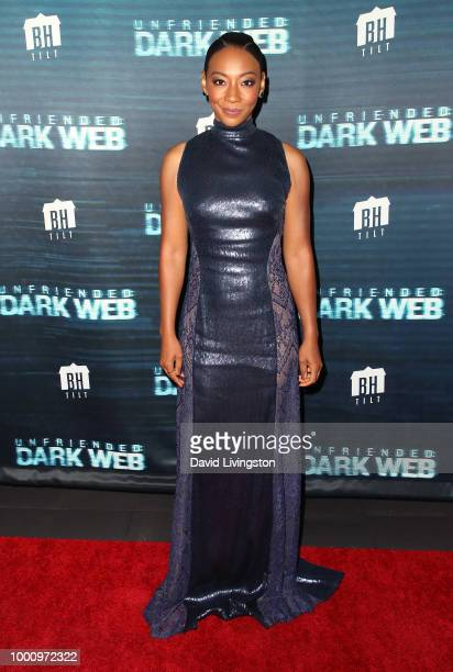 Actress Betty Gabriel attends the premiere of Blumhouse Productions and Universal Pictures' 'Unfriended Dark Web' at LA LIVE on July 17 2018 in Los...