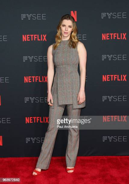 """Actress Betty Gilpin attends the #NETFLIXFYSEE For Your Consideration event for """"GLOW"""" at Netflix FYSEE At Raleigh Studios on May 30, 2018 in Los..."""