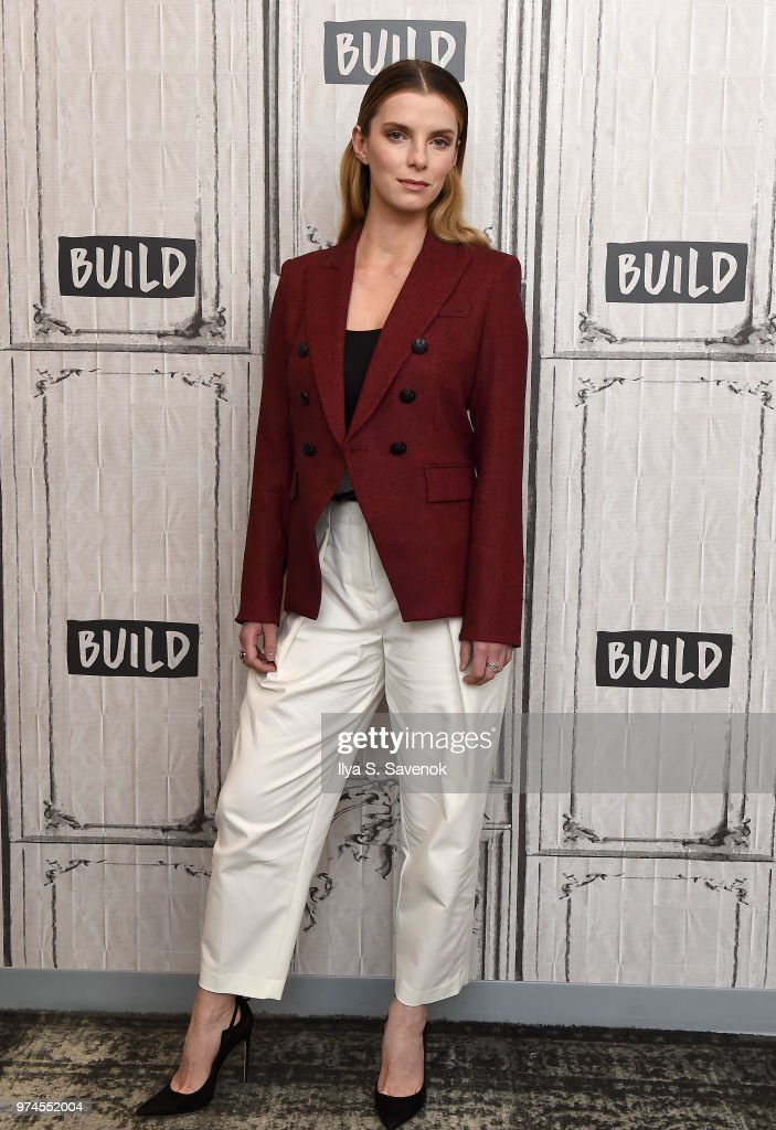 Actress Betty Gilpin visits Build Series to promote 'GLOW' at Build Studio on June 14, 2018 in New York City.