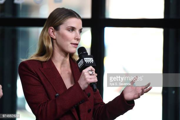 Actress Betty Gilpin visits Build Series to promote 'GLOW' at Build Studio on June 14 2018 in New York City