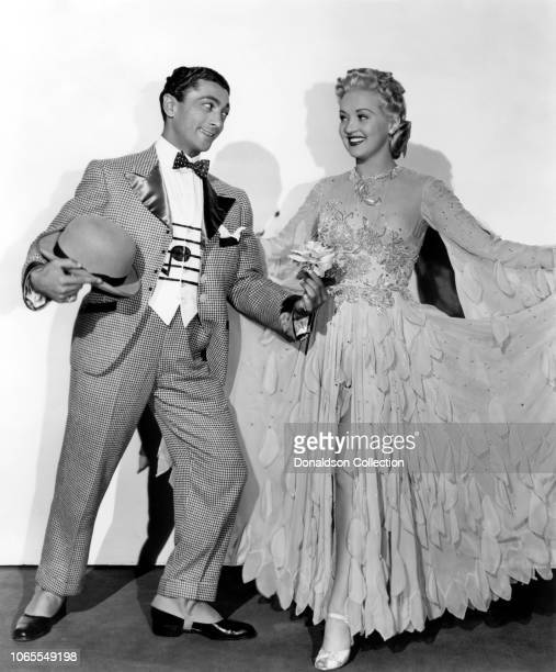 Actress Betty Grable and Fred Keating in a scene from the movie Tin Pan Alley