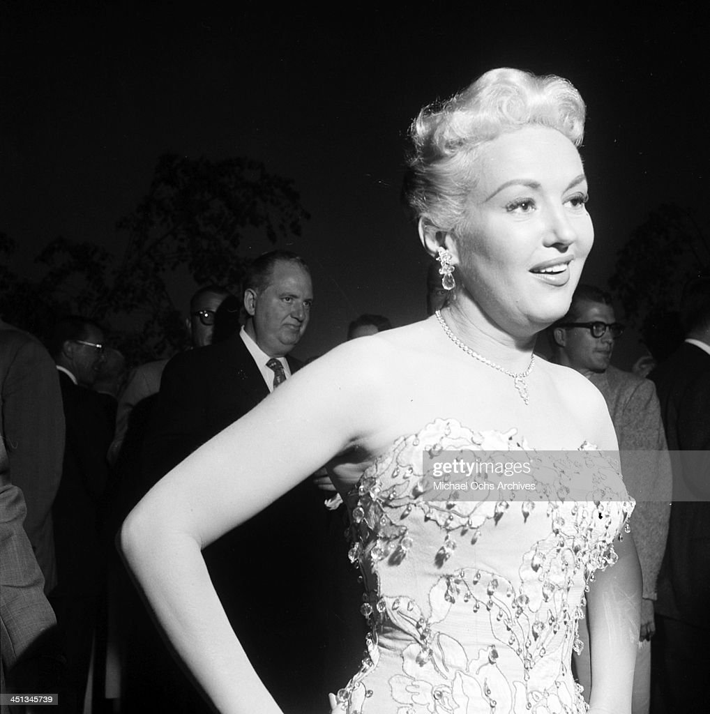 Actress Betty Grable attends the CBS cocktail party in Los