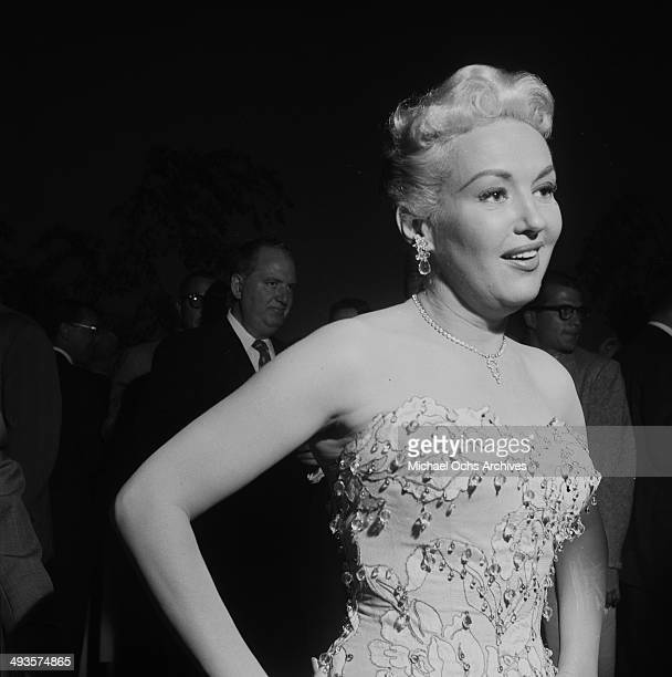 Actress Betty Grable attends the CBS cocktail party in Los Angeles California