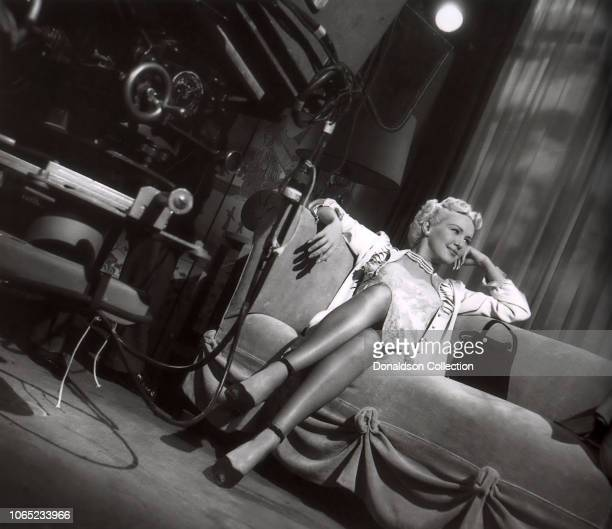 Actress Betty Grable in a scene from the movie My Blue Heaven