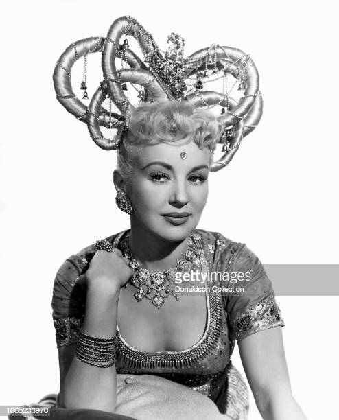 Actress Betty Grable in a scene from the movie Three for the Show