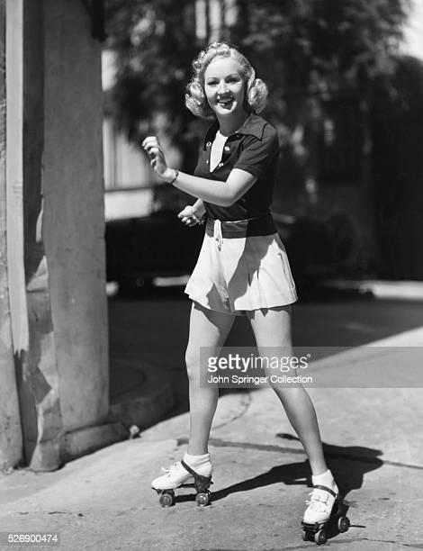Actress Betty Grable Roller Skating