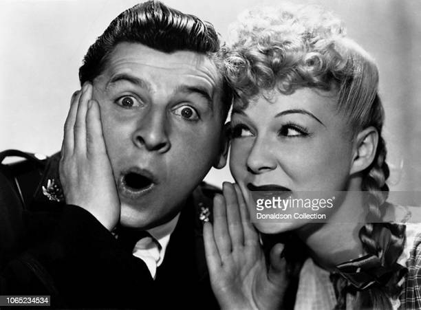 Actress Betty Hutton and Eddie Bracken in a scene from the movie The Miracle of Morgan's Creek
