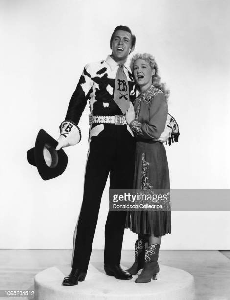 Actress Betty Hutton Howard Keel in a scene from the movie Annie Get Your Gun