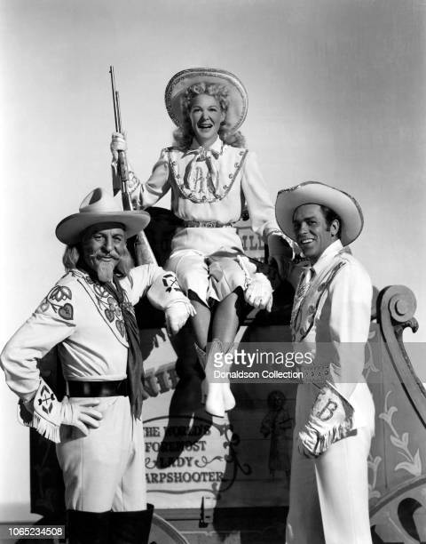 Actress Betty Hutton Howard Keel Louis Calhern in a scene from the movie Annie Get Your Gun