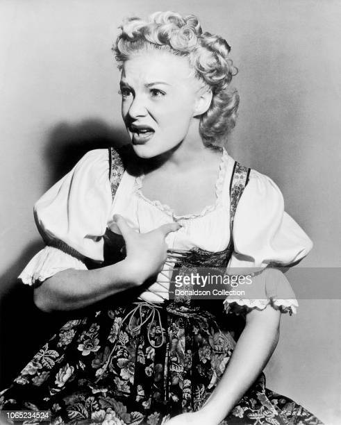 Actress Betty Hutton in a scene from the movie The Fleet's In