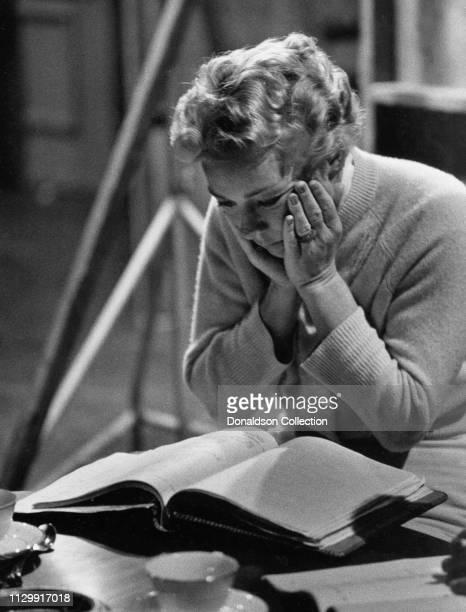 Actress Betty Hutton rehearsing in circa 1958