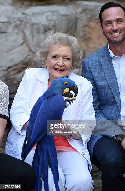 Actress Betty White and 99 Cents only Stores Senior Vice President of Store Operations Jason Kidd attend The Greater Los Angeles Zoo Association's...