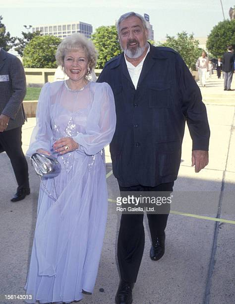 Actress Betty White and actor Raymond Burr attend the 38th Annual Primetime Emmy Awards Rehearsals on September 21 1986 at Pasadena Civic Auditorium...