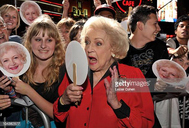 Actress Betty White arrives at the You Again premiere at the El Capitan Theatre on September 22 2010 in Hollywood California