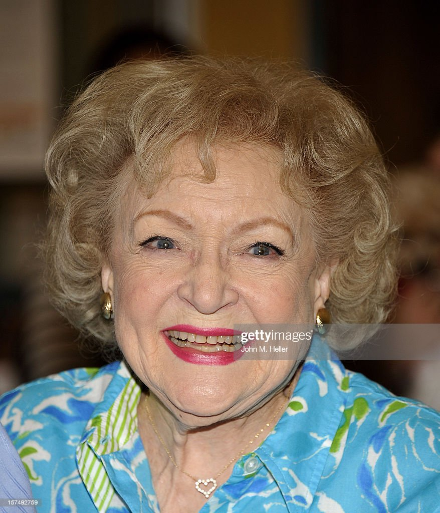 Actress Betty White attends at the One Year Anniversary Of L.A. Love & Leashes at the Westside Pavilion on December 3, 2012 in Los Angeles, California.