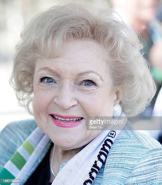 Actress Betty White attends Betty White Out Tour at The Los Angeles Zoo with The Lifeline Program at Los Angeles Zoo on December 11 2012 in Los...