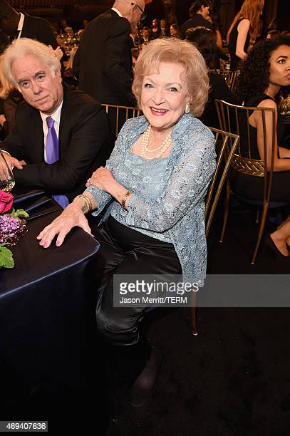 Actress Betty White attends the 2015 TV Land Awards at Saban Theatre on April 11 2015 in Beverly Hills California