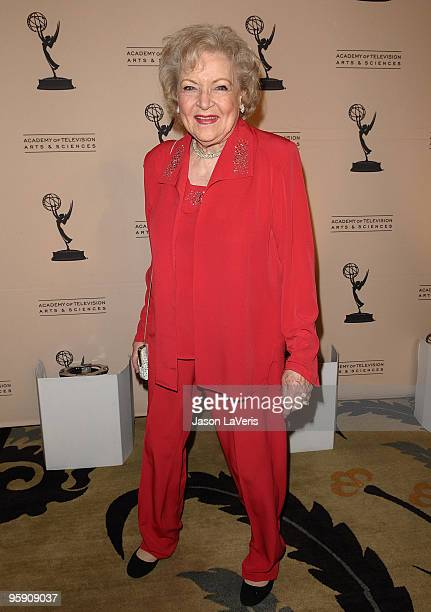 Actress Betty White attends the Academy of Television's 19th annual Hall of Fame induction gala at Beverly Hills Hotel on January 20, 2010 in Beverly...