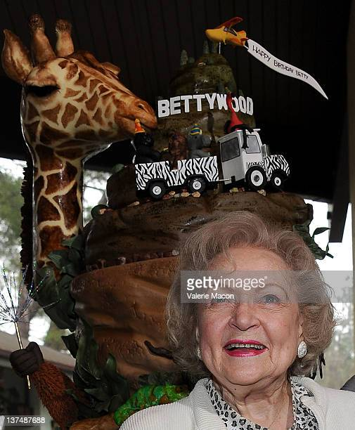 Actress Betty White attends The Greater Los Angeles Zoo Association Fetes Chairman Betty White For Her 90th Birthday at Los Angeles Zoo on January...