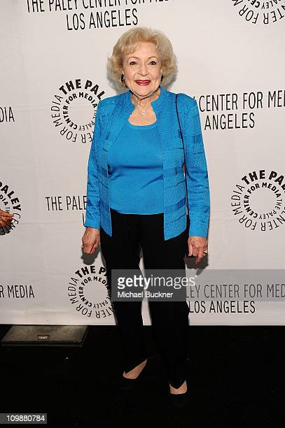 """Actress Betty White attends the Paley Center For Media's Paleyfest 2011 Event Honoring """"Hot In Cleveland"""" at the Saban Theatre on March 8, 2011 in..."""