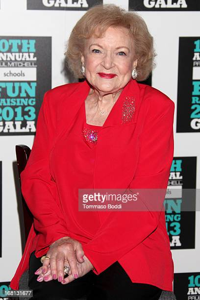 Actress Betty White attends the Paul Mitchell's 10th Annual Fundraiser held at The Beverly Hilton Hotel on May 5 2013 in Beverly Hills California