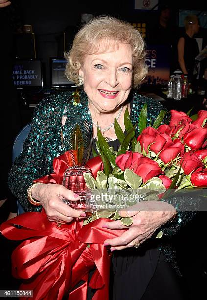 Actress Betty White attends the The 41st Annual People's Choice Awards at Nokia Theatre LA Live on January 7 2015 in Los Angeles California