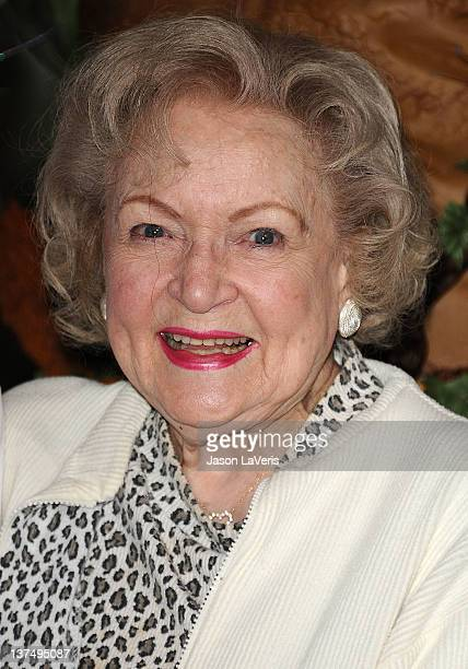Actress Betty White celebrates her 90th birthday at Los Angeles Zoo on January 21, 2012 in Los Angeles, California.