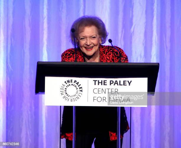 Actress Betty White speaks at Paley Honors in Hollywood A Gala Celebrating Women in Television at the Beverly Wilshire Four Seasons Hotel on October...