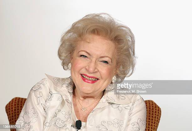 Actress Betty White speaks onstage during the Informal Session Betty White's Off Their Rockers panel during the NBCUniversal portion of the 2012...